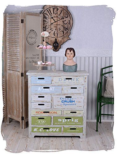 Vintage Kommode Shabby Chic Home Apothekerschrank Landhausstil