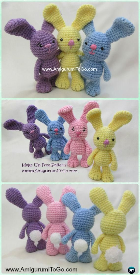 Crochet Amigurumi Bigfoot Bunny Toy Free Pattern | ELİŞİ | Pinterest ...