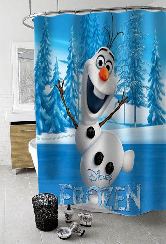 Olaf Disney Frozen Custom Shower Curtain Funny By KreyeZZkreyeSS
