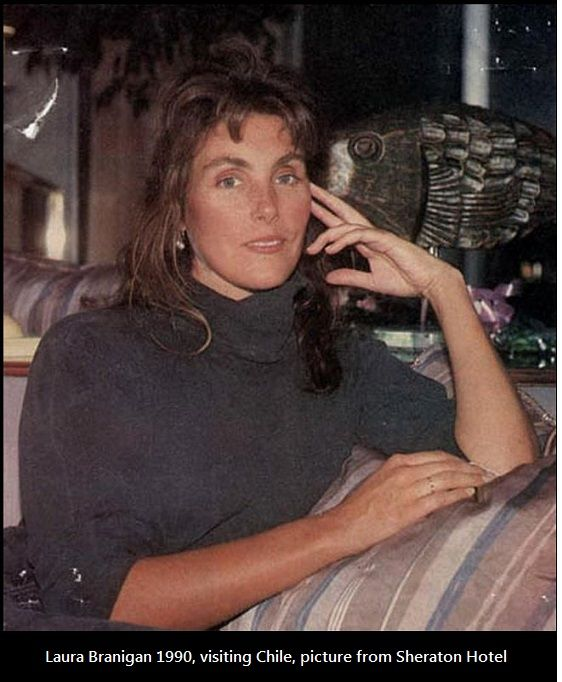 Laura Branigan 1990, she is visiting Chile. Chile loved Laura and Laura loved Chile. Picture from Sheraton Hotel.