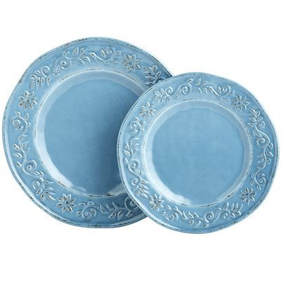 Tuscan Scroll Melamine Dinnerware - Blue | Dinnerware | Pinterest ...