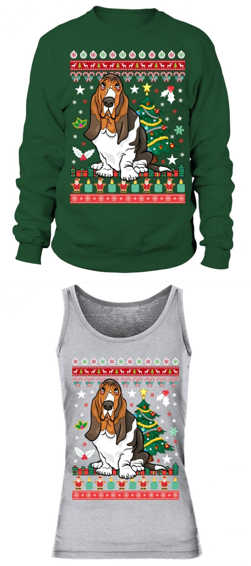 Couple T Shirt Colombo Basset Hound Christmas Sweatshirt Couple T