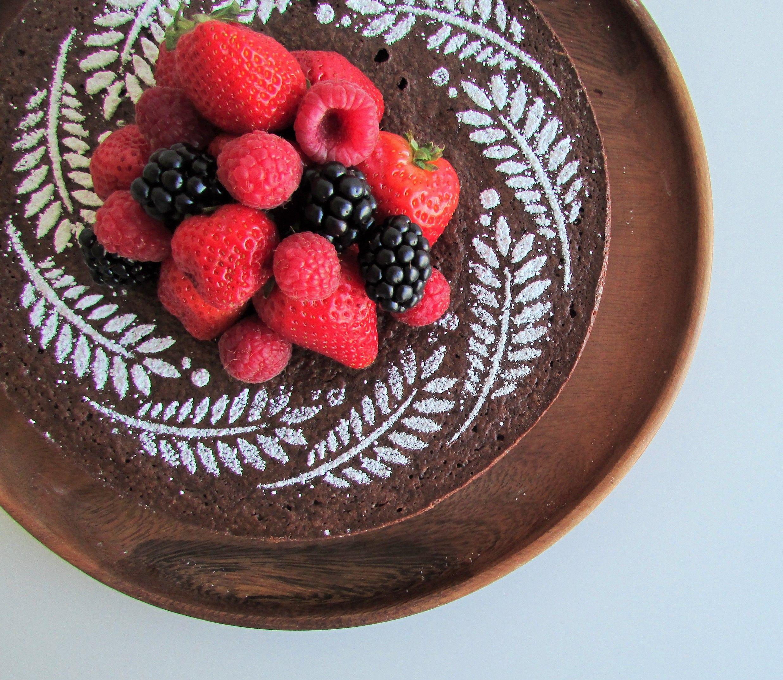 Torta de chocolate e amêndoas sem glúten