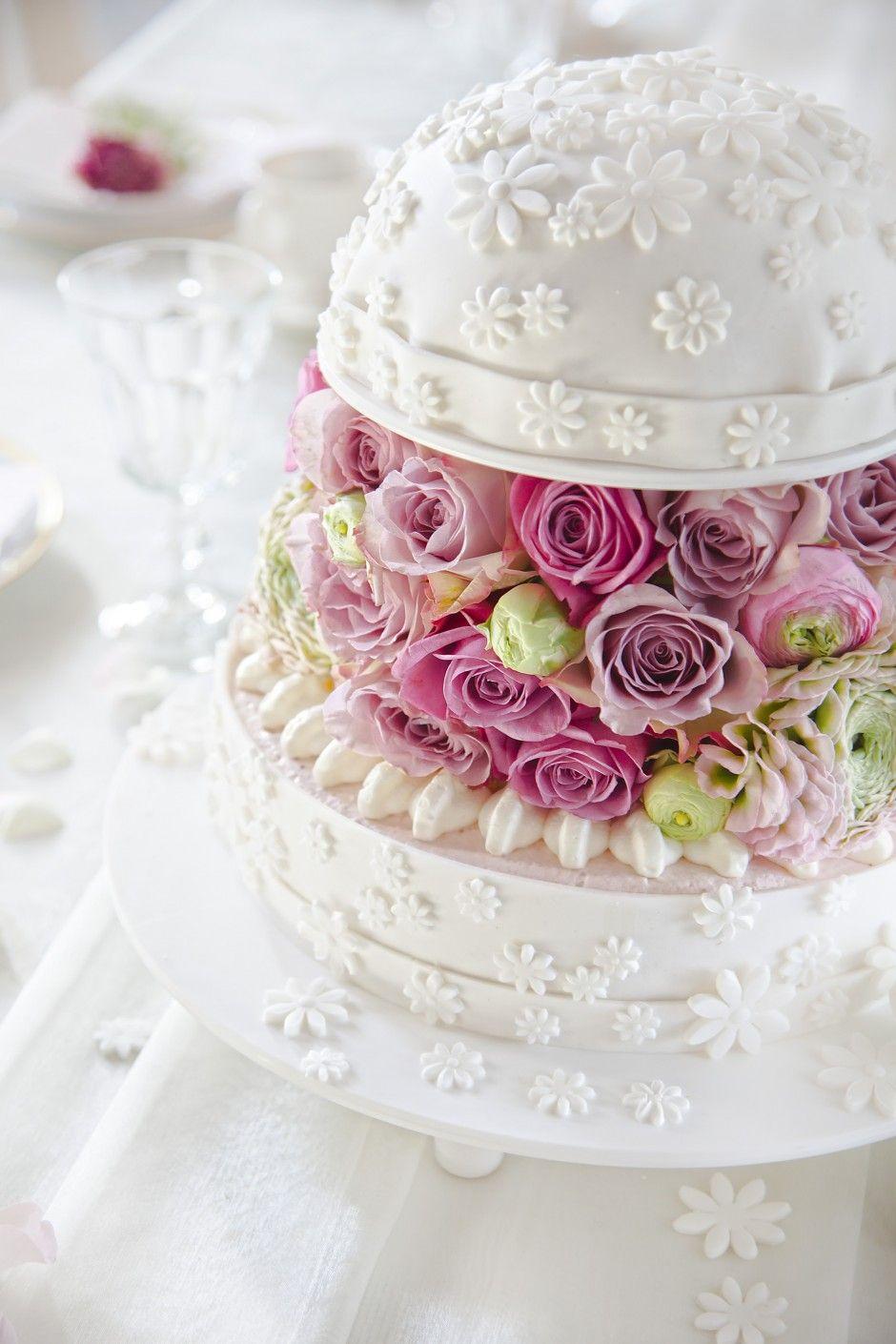 Ein hochzeits torten traum in wei und pastell leckeres s sses - Hochzeitstorte dekorieren ...