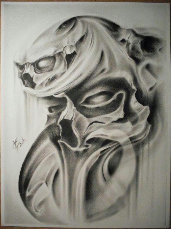 Pin By Angel Y Stephanie Gonzalez On Ink Skull 2 By Skulls Drawing Skull Artwork Skull Art