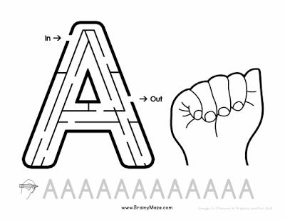Hojas de ejercicio con el Alfabeto en ASL (American Sing Language ...