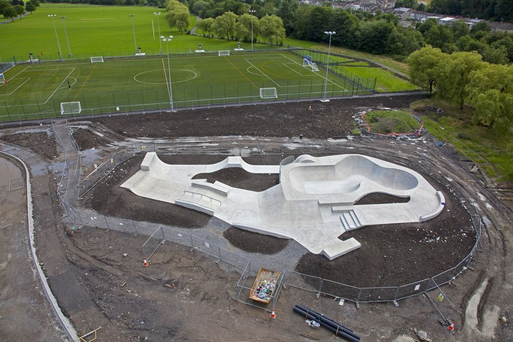 Another great aerial shot from the new Aberdare Skatepark - www.maverickindustries.co.uk