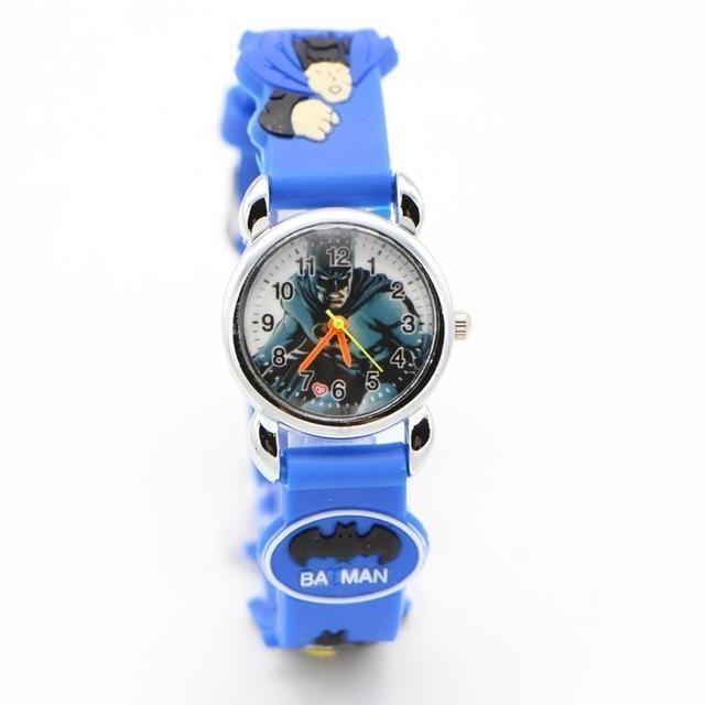 Children Quartz Watches Fashion Cartoon Superman Kids Watch Boy Steel Belt Bracelet Wristwatch Student Girls Gift Watches