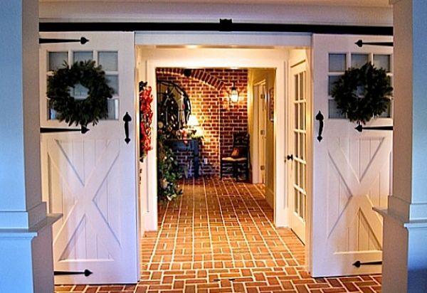 Sliding Barn Doors Lower Entry Hooked On Houses