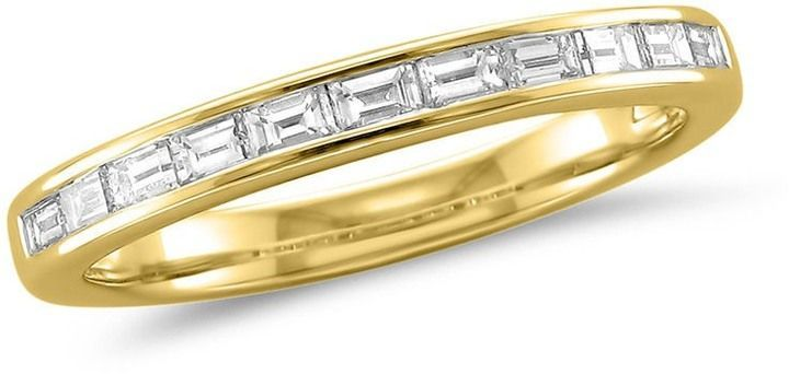 Zales 1/2 CT. T.W. Baguette Diamond Wedding Band in 14K Gold (H/VS2)