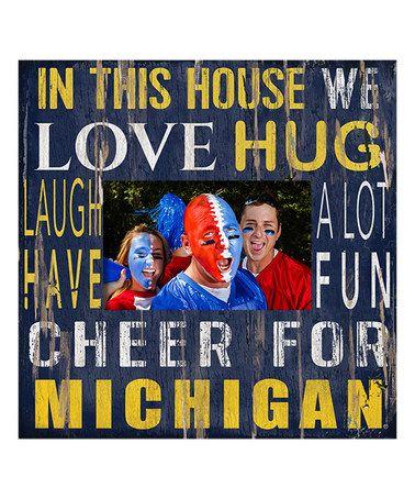 Michigan Wolverines 'In This House' Photo Frame #zulily #zulilyfinds