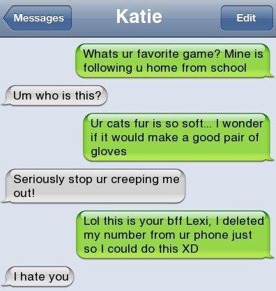 Stalker Texte lustig