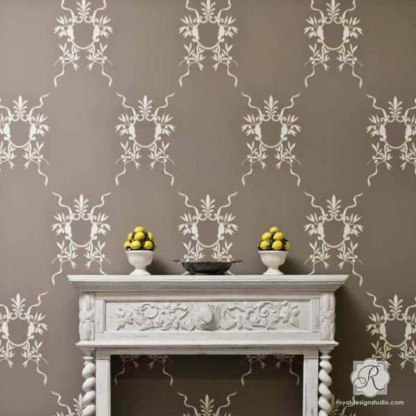 Decorate And Paint Your Walls With Gorgeous Italian Design The Easy Diy Way Use Classic European Wall Ar Stencils Wall Damask Wall Stencils Large Wall Stencil