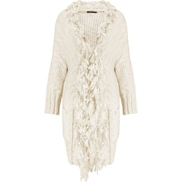 Designer Clothes, Shoes & Bags for Women | SSENSE. Fringe CardiganWhite ...