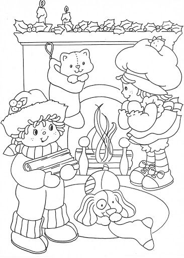 USED COLORING BOOK~Strawberry Shortcake Christmas Fun - Bonnie Jones - Picasa Web Albums