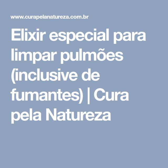 Elixir especial para limpar pulmões (inclusive de fumantes) | Cura pela Natureza