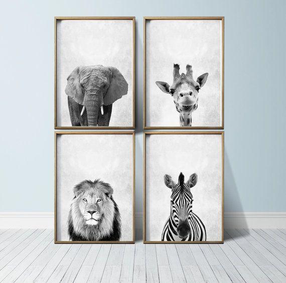 Nursery Art Nursery Prints Nursery Wall Art Safari Nursery Etsy