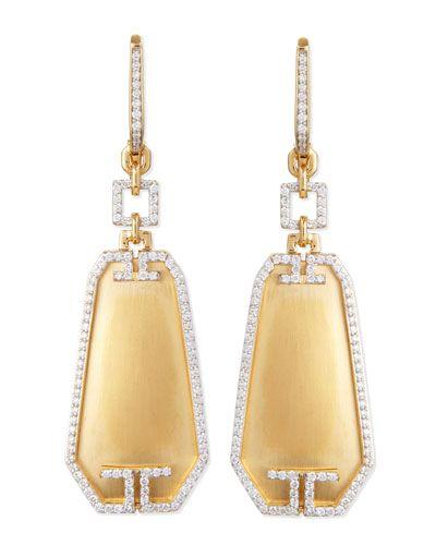 P4388 Ivanka Trump Metropolis Small Octagon Diamond Earrings