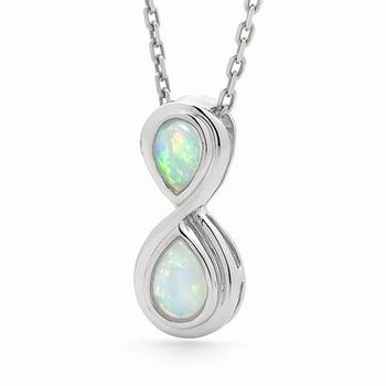 2 stones 6mm x 4mm 2 stones 7mm x 5mm pear a lovely light opal a lovely light opal pendant ina serling silver opal setting that oozes class and individuality aloadofball Images