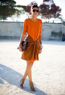 orange and khaki. so chic.