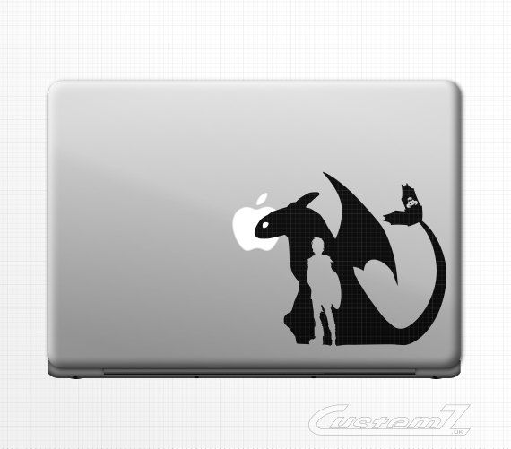 Toothless hiccup laptop sticker decal for macbook