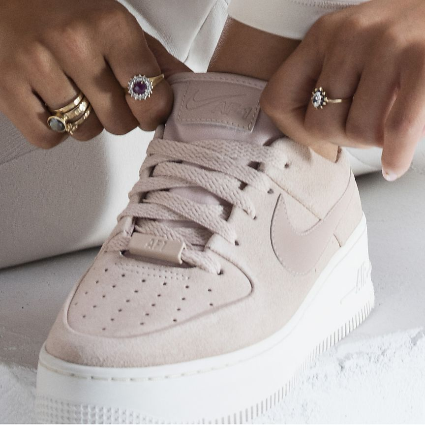 Nike Air Force 1 Sage Low - Beige - Shoes - Sport Stylist ...