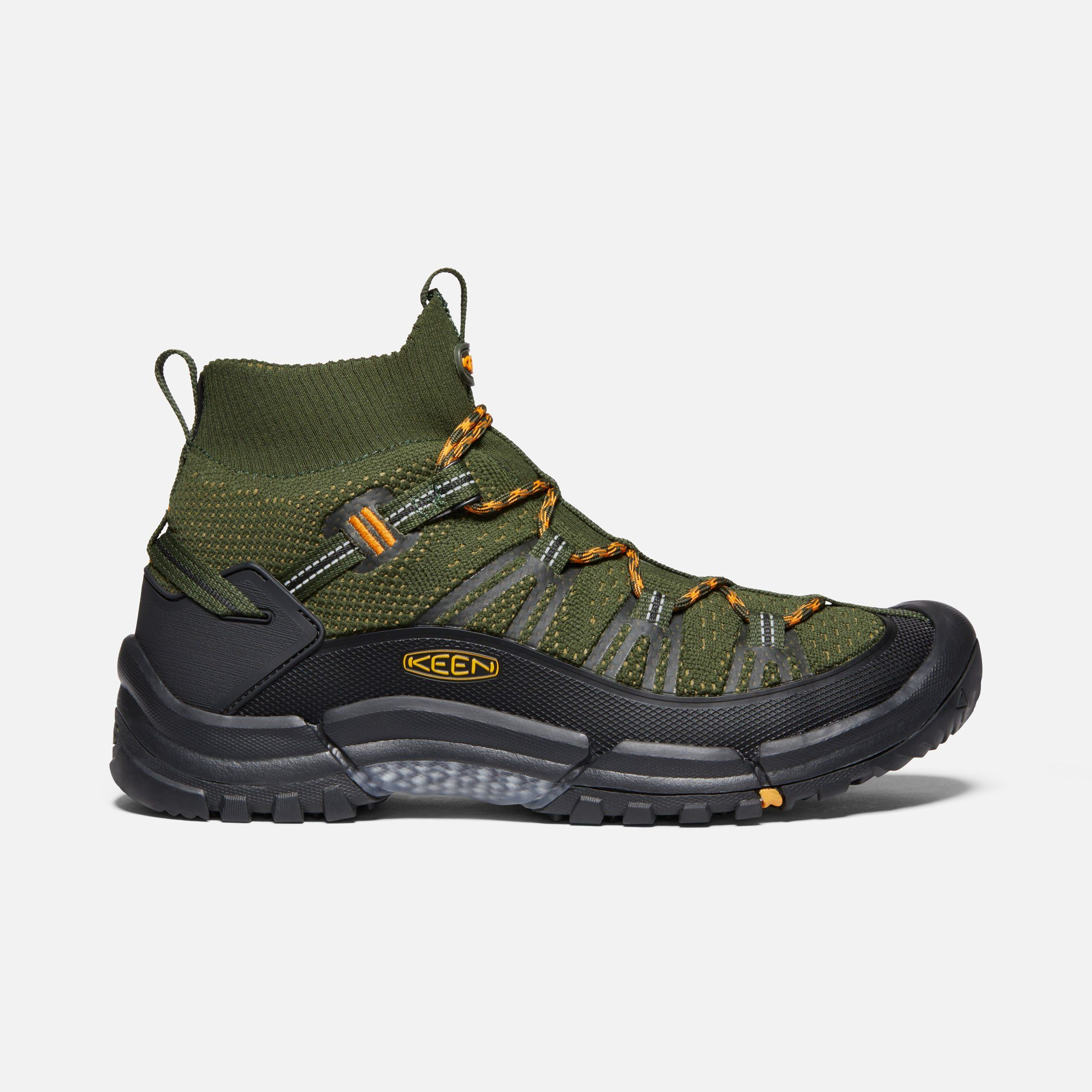 Keen Men S Hiking Axis Evo Mid Boots 13 Olive Night Marigold In