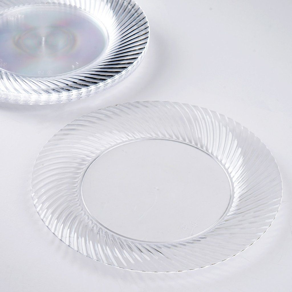 10 Pack 7  Clear Twirl Plastic Round Disposable Dinner Plates. Look for high quality ... & 10 Pack 7