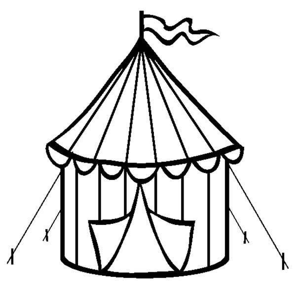 Circus Tent Coloring Page Coloring Sun Circus Crafts Circus Tent Circus