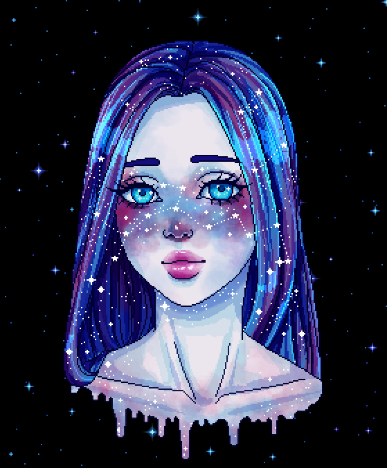 Heavily Inspired By Qinni S Galaxy Girl By Stardustpalace On Tumblr Papel De Parede Tumblr Desenho Tattoo Tumblr