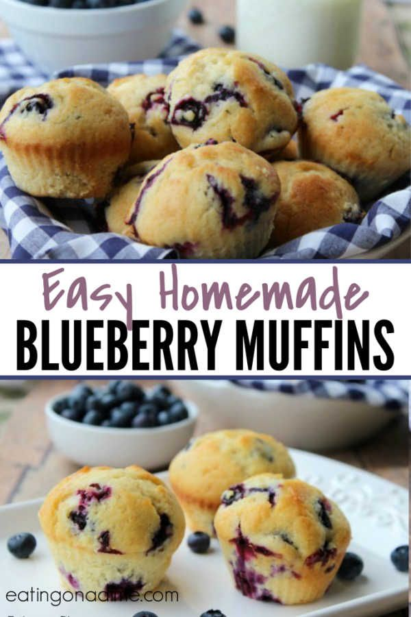 HOMEMADE BLUEBERRY MUFFIN RECIPE images