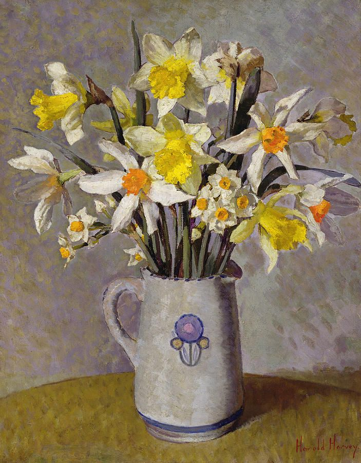 Harold C. Harvey (1874-1941) —  Daffodils  (703x900)