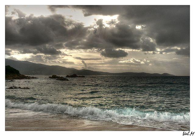 Cloudy sky, Corsica