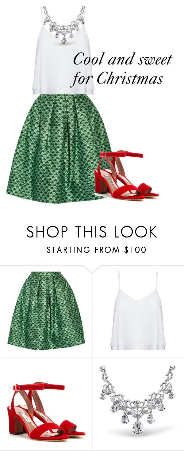 """""""Christmas Day Style"""" by julies-styling on Polyvore featuring Oscar de la Renta, Alice + Olivia, Tabitha Simmons and Bling Jewelry"""