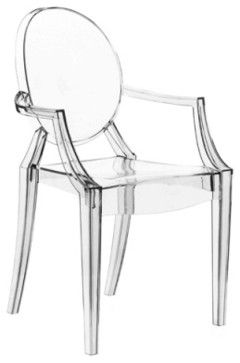 Starck Louis Ghost Chair In Clear Contemporary Armchairs