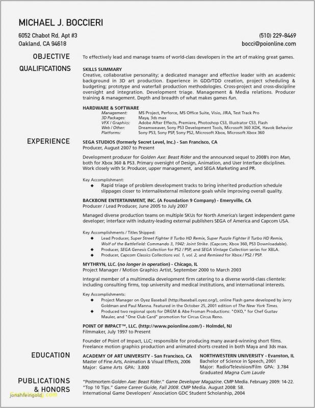 Animator Resume Artist Resume Resume Format Resume