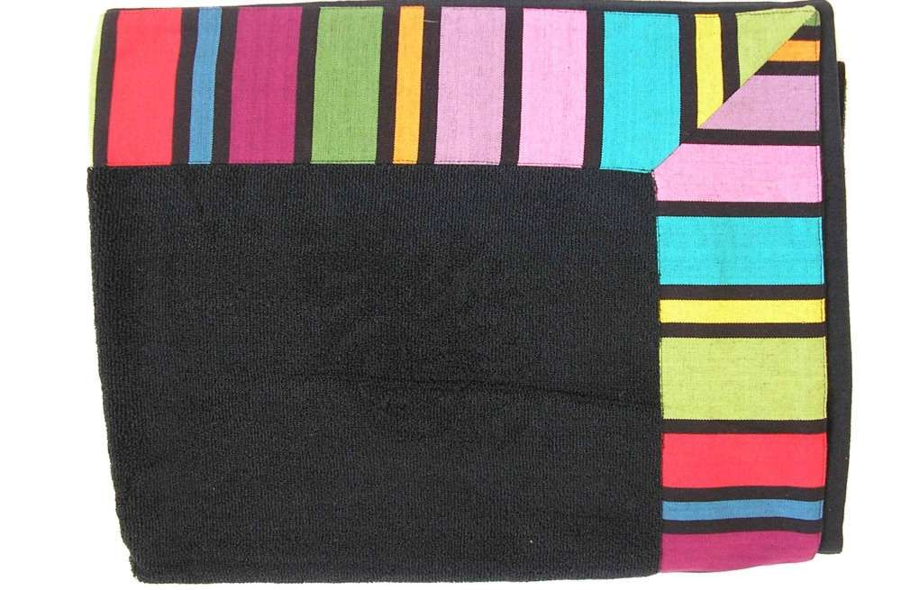 What Is A Bath Sheet Large Black Bath Sheet With Striped Border  Bathroom  Pinterest