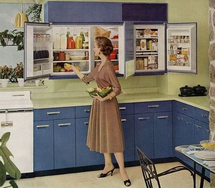 Ge Wall Refrigerator Freezer A 1955 Innovation 5 Design Photos In 2020 Vintage Refrigerator Refrigerator Freezer Retro Renovation
