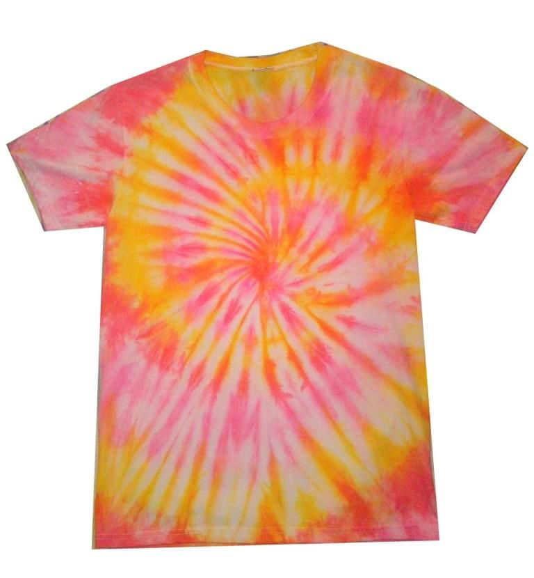 Pink, Orange and Yellow Spiral - Tie Dye Shirt by THE TIE DYE ...