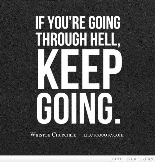 Weights Going Through Hell Motivation Inspiration Black White Quote Poster Sport