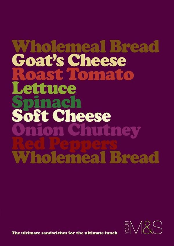Goat cheese, M&S Ultimate Sandwiches, Rkcr/y&r, London, M&S, Print, Outdoor, Ads