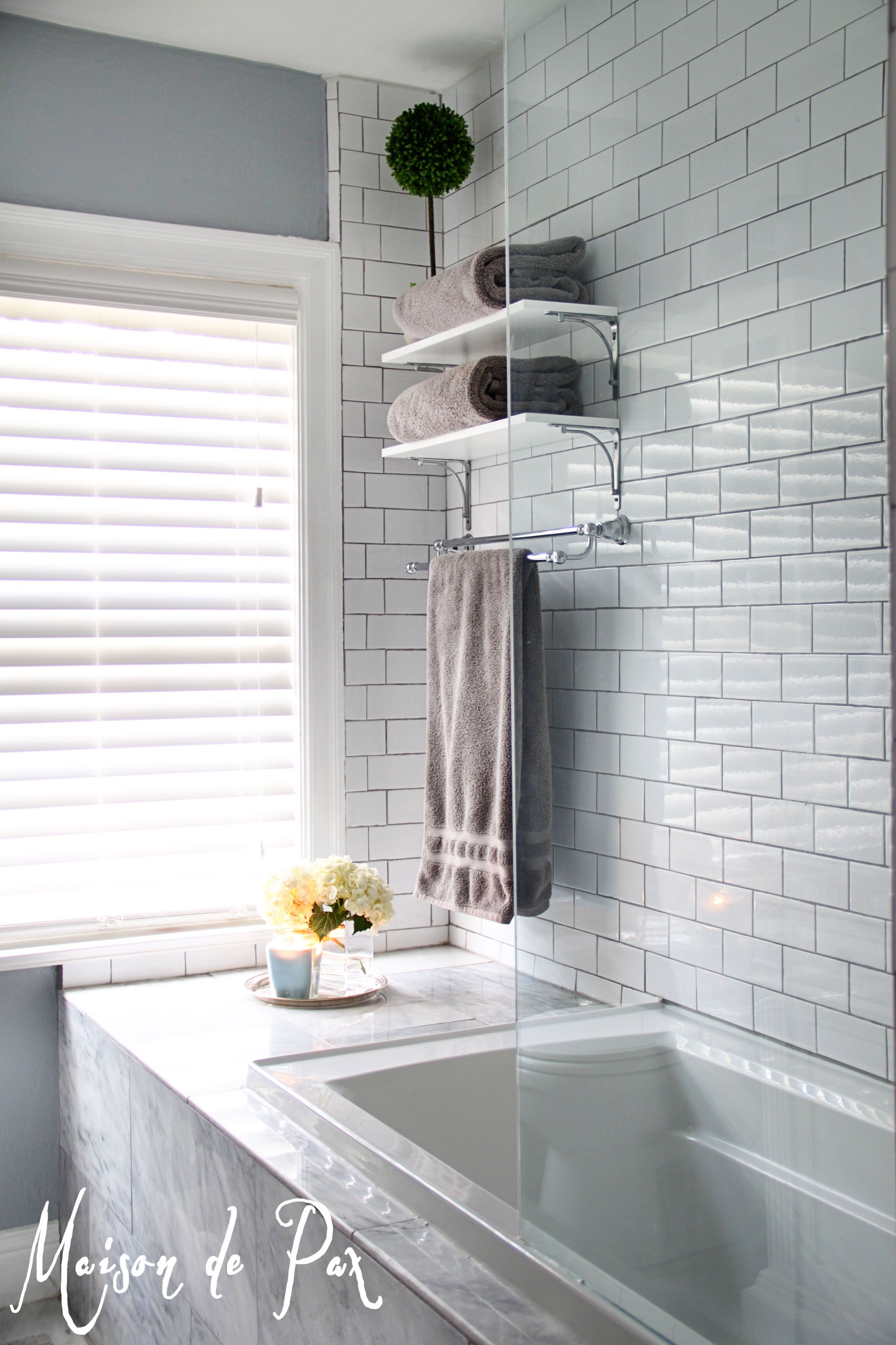 10 Tips For Designing A Small Bathroom Light Gray Walls Grey Grout And White Subway Tiles