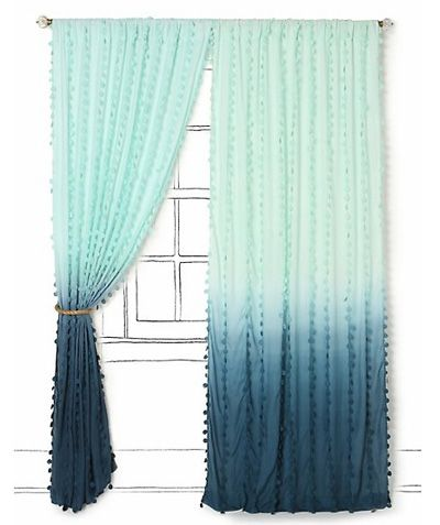 Diy Ombre Curtain Panels Ombre Curtains Home Curtains Ocean