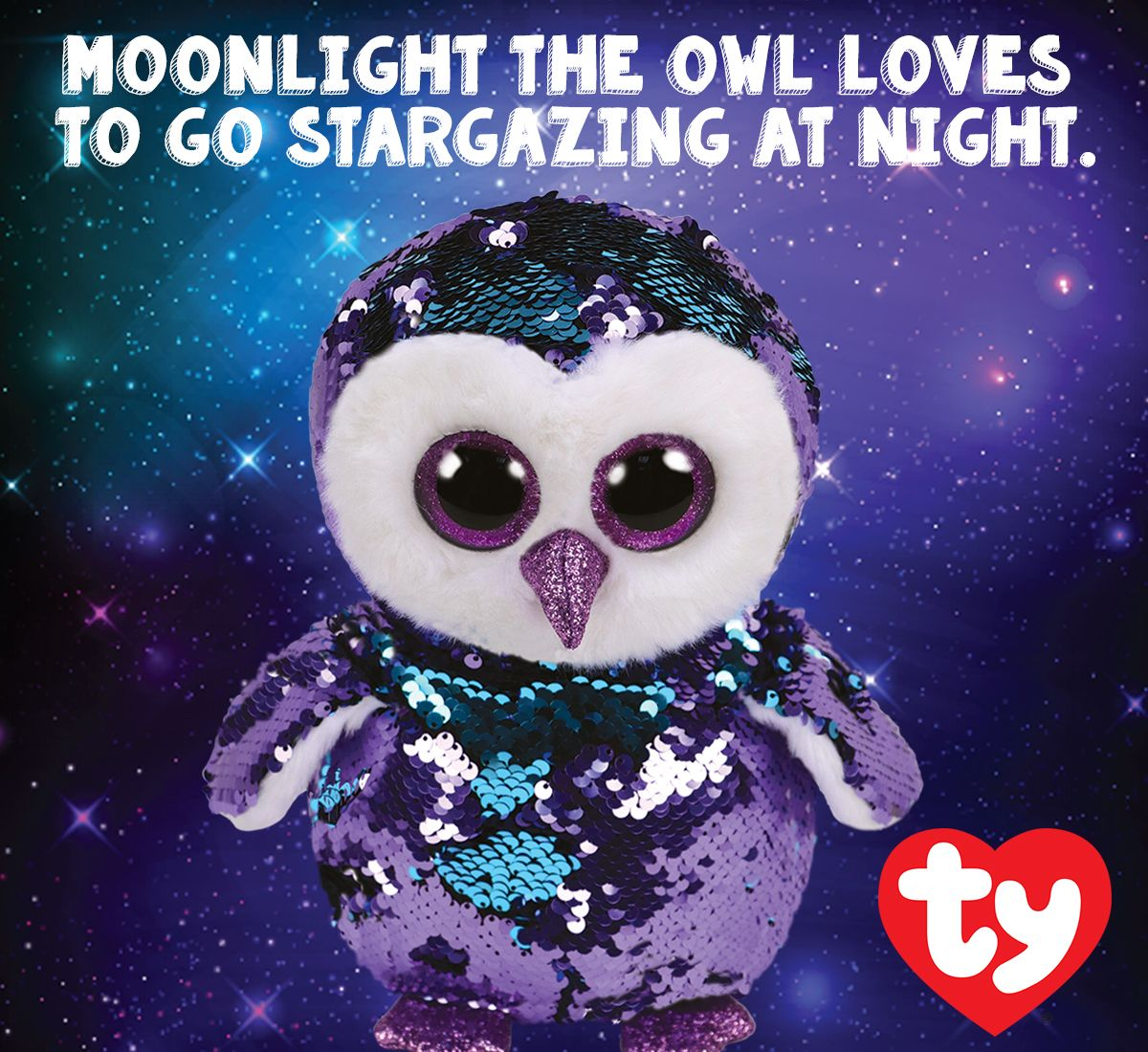 e1ceffc1e Ty Flippable, Moonlight the owl loves to go stargazing at night. Ty ...