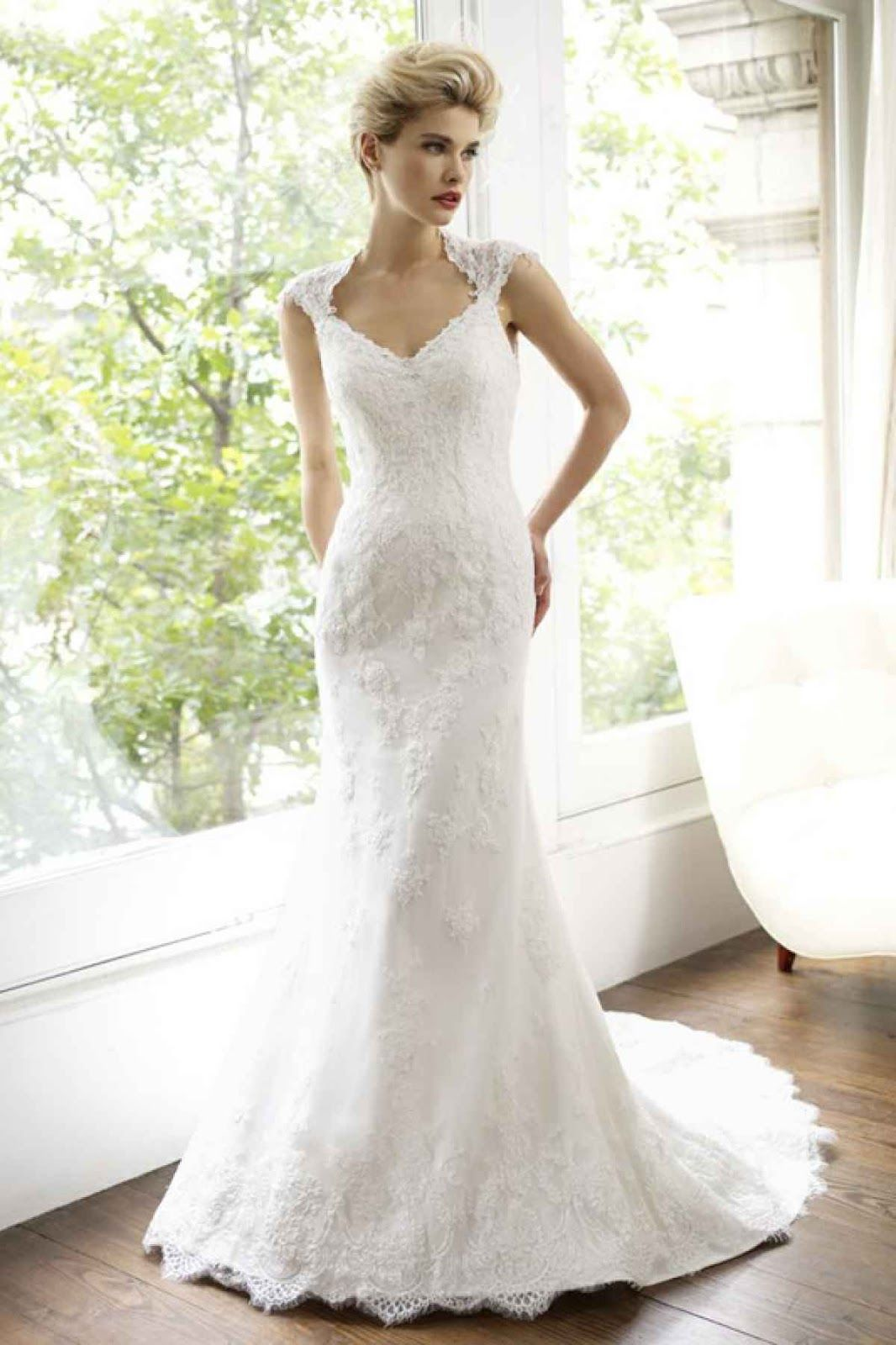 We offer brides all types of beaded lace wedding dresses that you ...