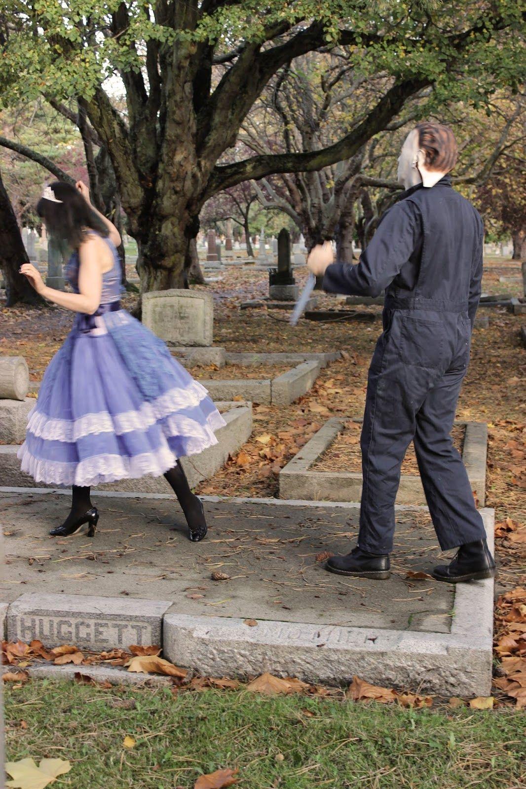 Halloween DEAD PROM QUEEN, DIY HALLOWEEN COSTUMES, GRAVEYARD, HALLOWEEN, HORROR, MICHAEL MYERS, SCARY