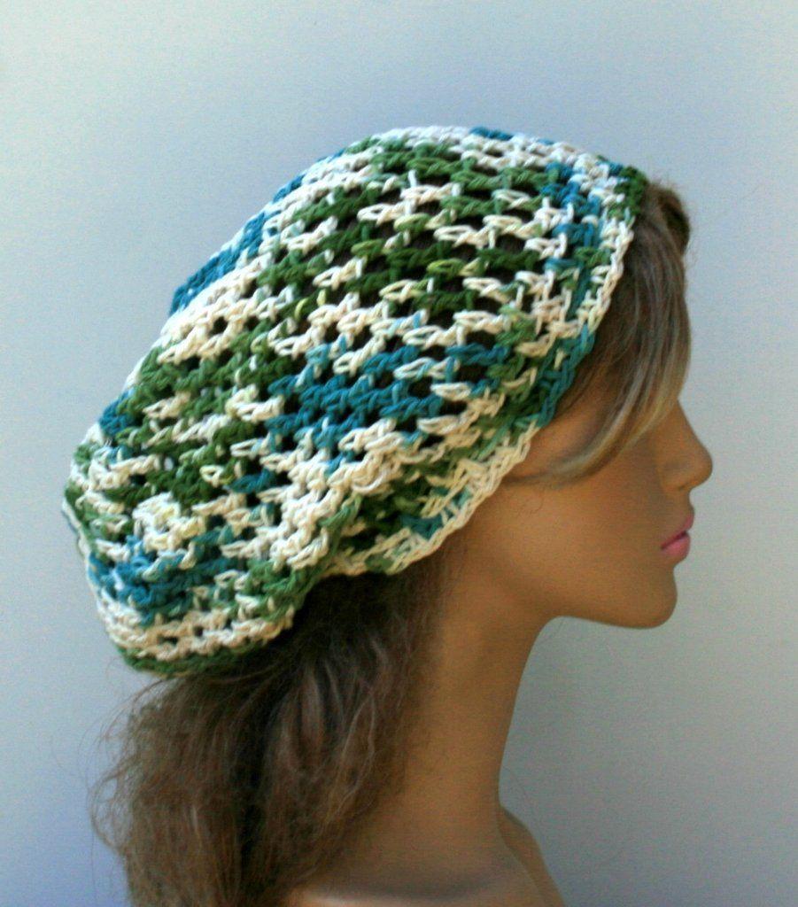 Cotton Mermaid slouchy beanie, hippie smaller dread tam hat, slouchy ...