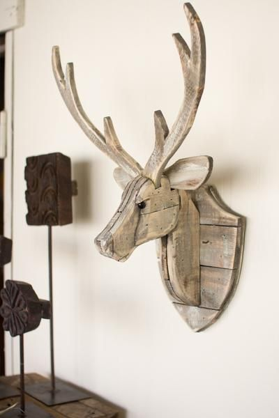 The Recycled Wooden Deer Head Wall Hangingwill Give An Eye Catching