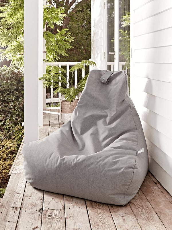 Indoor Outdoor Beanbag Soft Grey Outdoor Bean Bag Outdoor Bean Bag Chair Luxury Garden Furniture