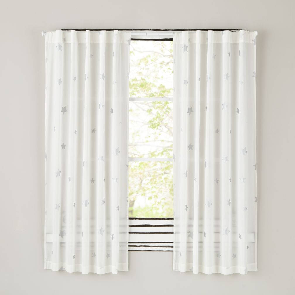 Silver Star Curtains Crate And Barrel Kids Curtains Panel